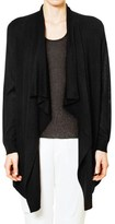 Magaschoni Knit and Woven Draped Cardigan Sweater - Silk and Cashmere (For Women)