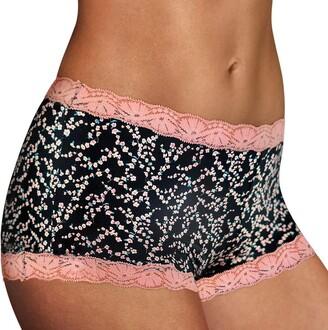 Maidenform Women's Microfiber with Lace Boyshort Panty Boy Short
