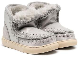 Mou Kids Sheepskin-Lined Boots