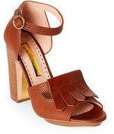 Rupert Sanderson Cocoa Majella Block Heel Platform Sandals