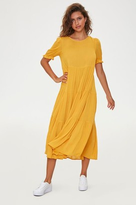 Forever 21 Tiered Shift Midi Dress
