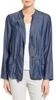 Nic+Zoe Women's Denim One-Button Jacket