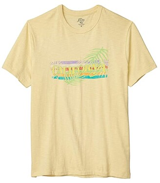 J.Crew Slub Jersey California Short Sleeve Tee (Vintage Straw) Men's Clothing