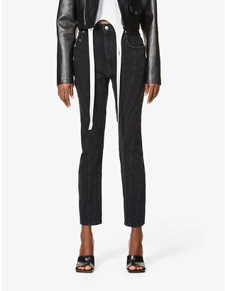 Thierry Mugler Skinny high-rise jeans