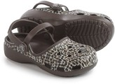 Crocs Karin Leopard Clogs (For Little and Big Girls)