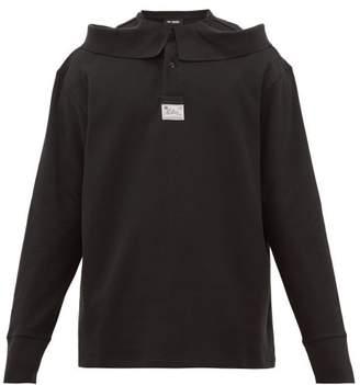 Raf Simons Deconstructed-collar Cotton-pique Polo Shirt - Mens - Black