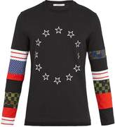 Givenchy Contrast-panel long-sleeved cotton-jersey top