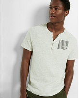Express double knit graphic henley