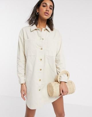 Vero Moda Aware oversized shirt dress in cream