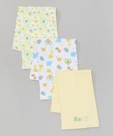 SpaSilk Yellow 'Baby' Burp Cloth Set