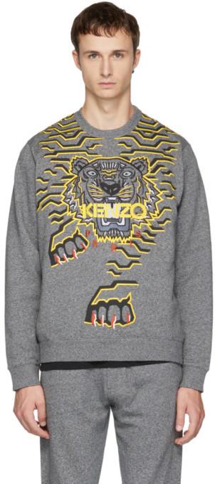 0b1118a9 Grey Geo Tiger Sweatshirt