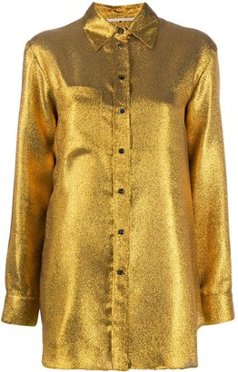 Marco De Vincenzo Metallic Relaxed-Fit Shirt