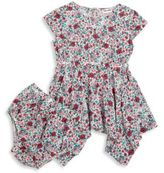 Splendid Asymmetric Floral Dress and Bloomers Set