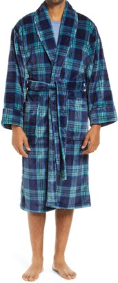 Daniel Buchler Plush Plaid Robe