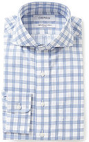 Daniel Cremieux Non-Iron Fitted Classic-Fit Cutaway-Collar Checked Dobby Dress Shirt