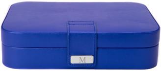 Bey-Berk Blue Leatherette 24 Section Jewel Case