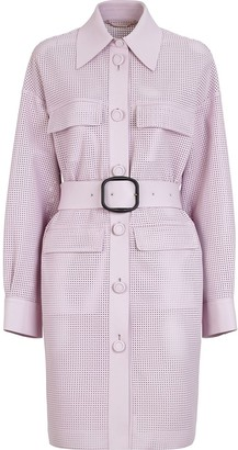 Fendi Perforated Belted Coat