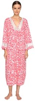 Oscar de la Renta Printed Pima Caftan Women's Pajama