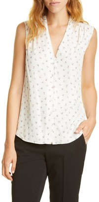 Tailored by Rebecca Taylor Clover Silk Blend Blouse