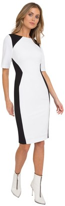 Black Halo Wolfe Color Block Sheath
