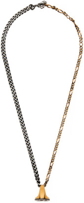 Alexander McQueen Silver and Gold Ring Necklace