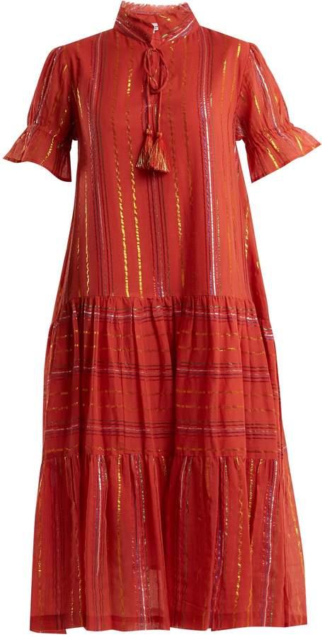 Apiece Apart Los Altos striped cotton-blend dress