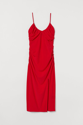 H&M Draped Dress - Red