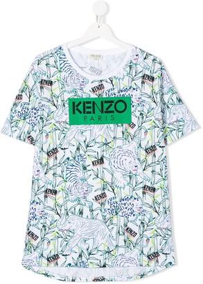 Kenzo short sleeve illustrative logo print T-shirt