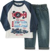Kids Headquarters Little Boys' 2-Pc. Long-Sleeve Shirt & Jeans Set
