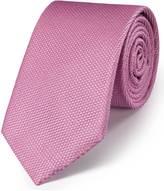 Charles Tyrwhitt Pink silk classic plain tie