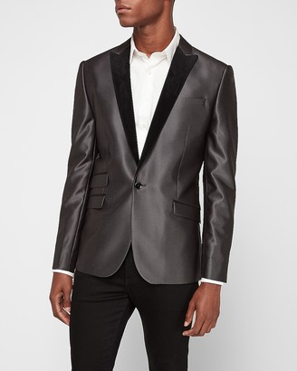 Express Slim Velvet Lapel Tuxedo Jacket