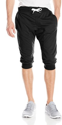 Southpole Men's Jogger Pants Active Basic Capri Solid 3/4 Length French Terry