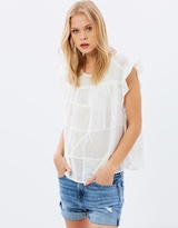 Maison Scotch Beautiful Delicate Patchwork Top