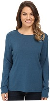 Pendleton Petite L/S Jewel Neck Cotton Rib Tee