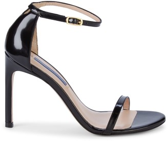 Stuart Weitzman Ankle-Strap Leather Sandals