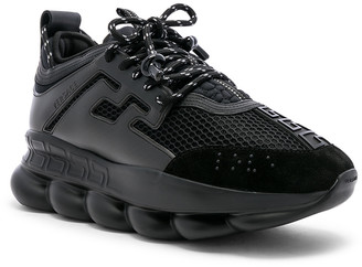 Versace Chain Reaction Sneakers in Black | FWRD