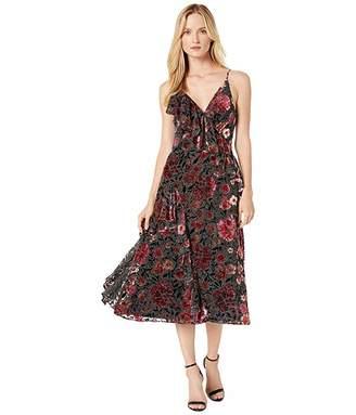 Jill Stuart Printed Velvet Long Dress