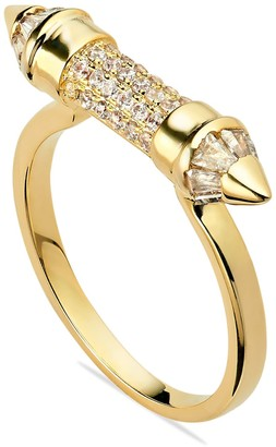 Opes Robur Gold Pointed Ring