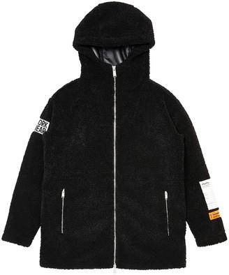 Heron Preston Black Hooded Jacket