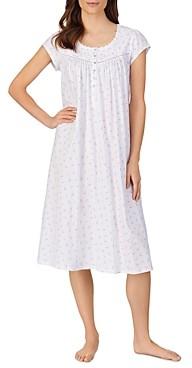 Eileen West Printed Cap Sleeve Nightgown