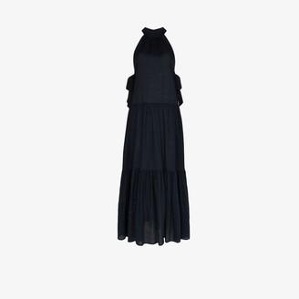 Marysia Swim Molluscs halterneck cotton maxi dress