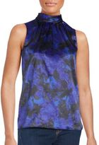 T Tahari Floral Print Sleeveless Top