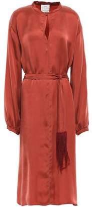 Forte Forte Forte_forte Belted Washed-satin Midi Dress