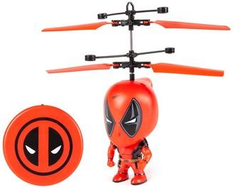 "World Tech Toys Marvel 3.5"" Deadpool Flying Figure IR Helicopter"