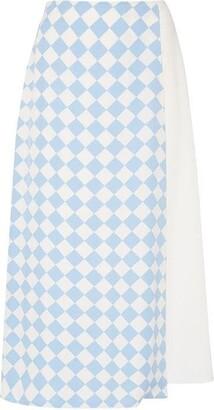 Sportmax Code Cestino split print skirt
