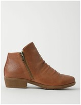 Thumbnail for your product : Zazou Ren Tan Leather High Cut Ankle Boot