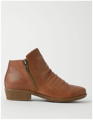 Zazou Ren Tan Leather High Cut Ankle Boot