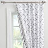 Lucky Clover Embroidered Blackout Drape, 84&quot, Gray