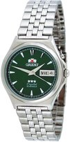 Orient #FEM5M010F Men's Tri Star Green Dial Standard Self Winding Automatic Watch