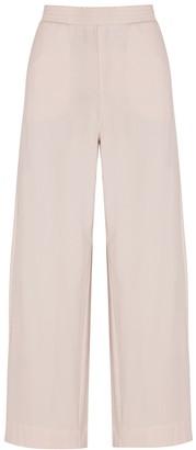 MAX MARA LEISURE Tattico blush cotton-blend sweatpants